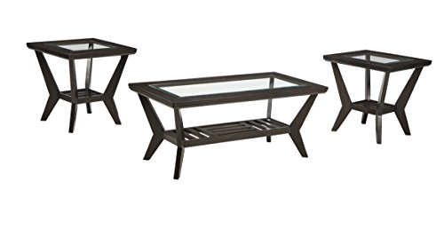 Ashley Furniture Lanquist Occasional Table Set Set of 3/Brown