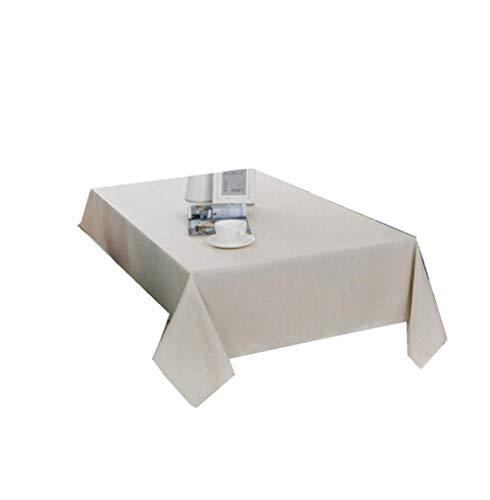 N/ A Tovaglia Tovaglia Decorativa Unica per Clip Casa Velluto Tavolo da Ufficio Semplice Tavolo da riunione Tavolino da caffè, Beige, 130Cm X 130Cm