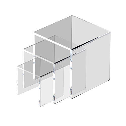 MaoXinTek Expositor de Elevador de Acrílico Transparene,  Expositores de Joyería Soportes de Exhibidores de Escaparate para Figuras,  Buffets,  Cupcakes (3 Inch,  4 Inch,  5 Inch)