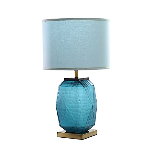 Table Lamp Modern Craft Glass Bedside Lamp Hotel Exhibition Hall Table Lamp Living Room Bedroom Bedside Glazed Glass Table Lamp E27 for Bedroom Living Room Hotel ( Color : B , Size : Remote control )