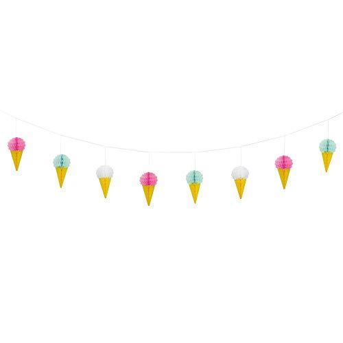 Unique Party- Guirnalda de panal – 7 pies | Desechable | Helado | 1 pieza, Multicolor (63443)