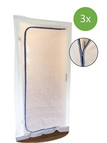 selbstklebender Rei/ßverschluss Staubschutzwand Folient/ür Staubschutzt/ür 5x7,5cm