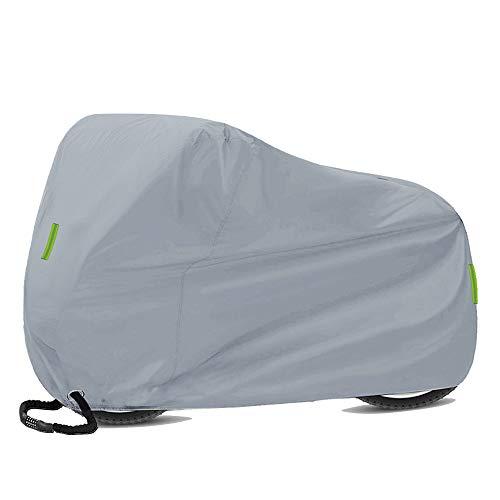 KKmoon Funda Bicicleta,Funda Moto,Cubierta Bicicleta de Montaña y Carretera Impermeable Antipolvo,Protección UV con Reflectante,Bolsa,con Orificios de Bloqueo 200 x 110 x 70 cm