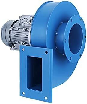SSCYHT Ventilador centrífugo, Draftan inducido industrialmente Resistente a Altas temperaturas, Extractor, Caldera, fábrica, Taller,Azul,90W