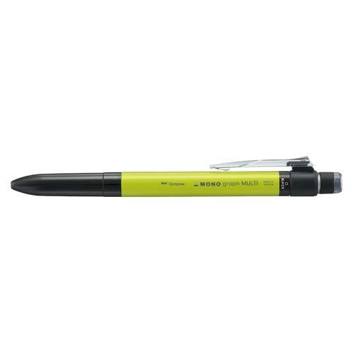 トンボ鉛筆 多機能ペン モノグラフマルチ 2&1 消しゴム付 ライム SB-TMGE51 【まとめ買い5本セット】