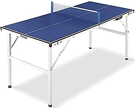Tavolo da Ping Pong Pieghevole, 150 x 70 x 67 cm Mini Tavolo da Ping Pong, Perfetto per il Piccolo Giardino o per la...