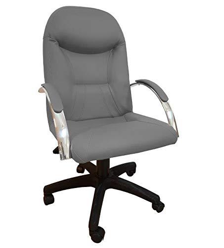 Cadeira Escritório Day Presidente CompreAlegre Giratória Reclínio (Cinza)