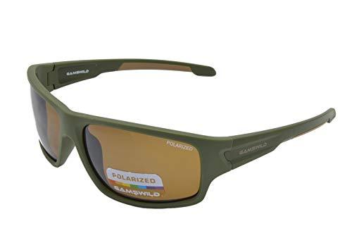 Gamswild WS4832 Gafas de sol deportivas, de esquí, para bicicleta, unisex, color azul, negro y verde verde M