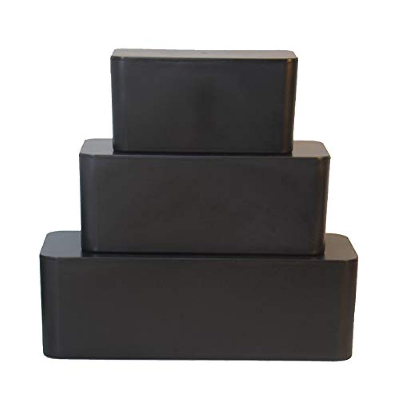収納ボックス ワイヤー収納 ケーブル収納 ソケット 電源コードボード ピンボード ストリップ ルーター(ブラック S 23.5x11.5x12センチ)
