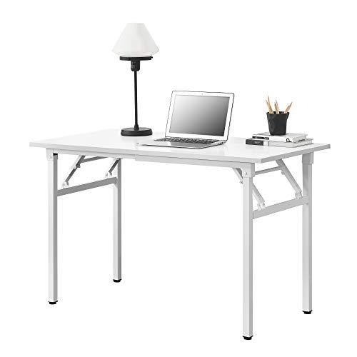[neu.haus] Klapptisch - 120 x 60 x 75-76,4cm Schreibtisch Bürotisch Computertisch Tisch Klappbar Weiß