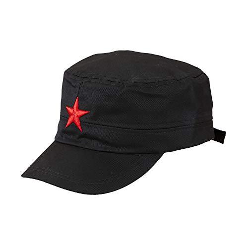 Widmann 01127 Base Casquette avec étoile, pour Adultes, Noir