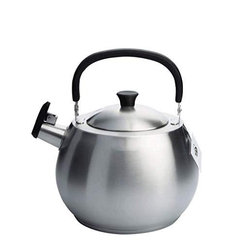 Hervidor JXLBB Calentador de Gas de Caldera de Acero Inoxidable 304 4.5 L Silbato de Agua Caliente para el hogar Cocina de Gas Universal