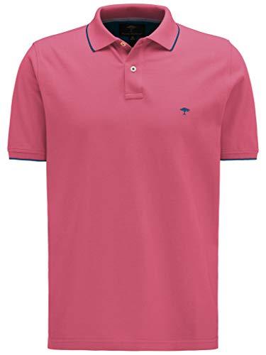 FYNCH-HATTON Basic Poloshirt aus Piqué mit Kontraststreifen aus Reiner Baumwolle, Fruit pink, S