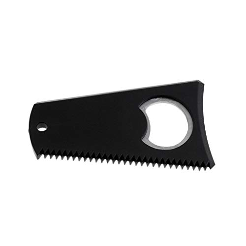 rouroumaoyi Schwarz Surfbrett Wax Comb Surfboard Longboard-Wachs-Remover Surfen Zubehör Wachs Reinigungswerkzeug mit Schlüsselloch