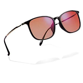 Color Blindness Glasses for Men - Premium High Contrast Colorblind Glasses - Lightweight Men s Color Blind Correcting Glasses Enhanced Color Correction for Red Green Blue Yellow Purple  Black