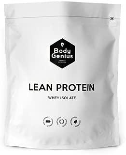 BODY GENIUS Lean Protein. Whey Isolate. Proteina en Polvo con Stevia. 500 gr (Vainilla Real)