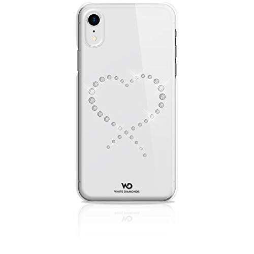 WHITE DIAMONDS COVER ETERNITY CON CRISTALLI SWAROVSKI A FORMA DI CUORE PER IPHONE XR