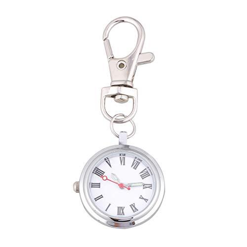 UKCOCO Sjuksköterska Klocka Nyckelring Fickur Kvartsur Stort antal klockor för barn Män par (romerska siffror)