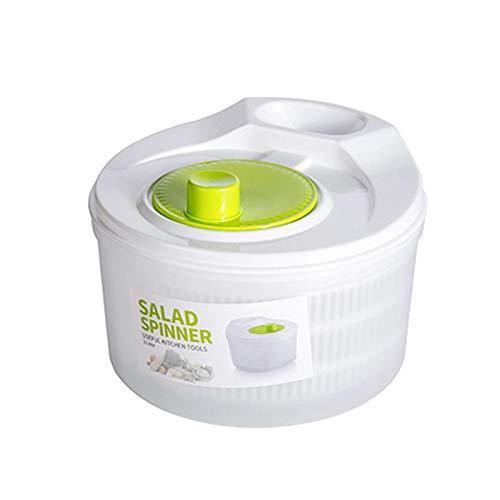 N / C Salatschleuder, Trockner für Obst und Gemüse, schnelle Entwässerung, Hochgeschwindigkeitszentrifugation, einfach zu bedienen, geeignet für Familien, Restaurants usw. 6 x 8,3 Zoll