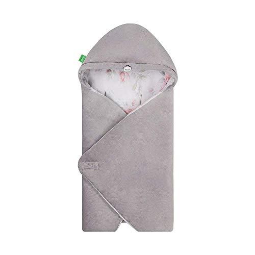 LULANDO Art Baby Winter-Einschlagdecke, Babyschlafsack Yeti, Schlafsack für die Babytrage, Schlafsack für Babyschale, Autositz, Schlafsack für Säuglinge, 75x75 cm (Roses)