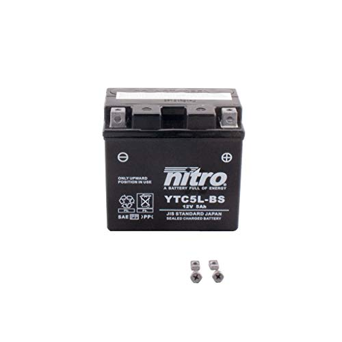 Batterie 12V 5AH YTX5L-BS (YTC5L-BS) Gel Nitro 50412 NSR 125 R JC22 97-03