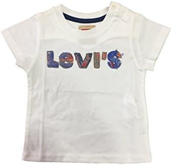Camiseta de Levi's de Manga Corta Color Blanco para Bebé y Niño