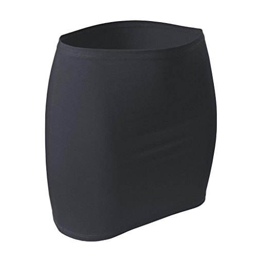 CFLEX Damen Variotube-Nierenwärmer, Shirtverlängerung, Minirock aus Baumwolle - Anthrazit XS-S
