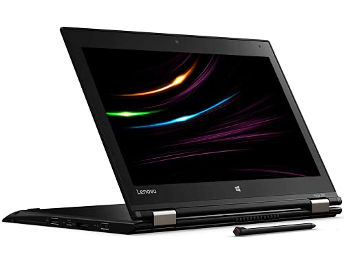 Lenovo ThinkPad Yoga 260 Mobiles Notebook, Intel i5 2 x 2.3 GHz Prozessor 8 GB Arbeitsspeicher 256 GB SSD 12.5 Zoll Touch Display Full HD 1920x1080 IPS Cam Windows 10 Pro (Generalüberholt)