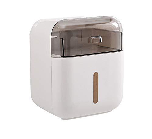 qwess wasserdichte Wand Toilettenpapierhalter Regal Toilettenpapierhalter Rollenpapier Rohr Aufbewahrungsbox Schlafzimmer Papierkasten