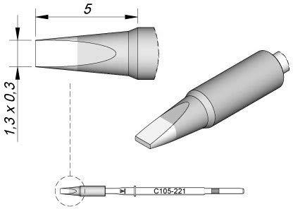 Jbc - Punta de soldador para Nano C105221