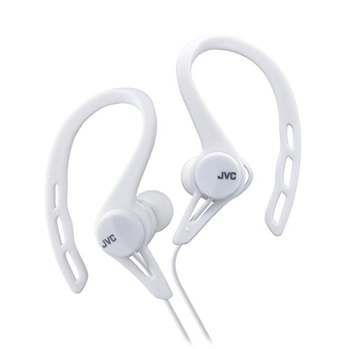 JVC HAECX20W Sports Clip Inner Ear Headphones, White