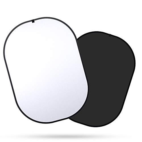 SEDGEWIN 2 in 1 Schwarz und Weiß Hintergrund Doppelseitige Pop Chromakey Faltbare Hintergrund mit Tragetasche, 100% Baumwolle (150x200cm)