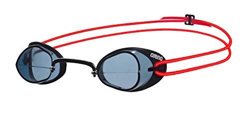 arena Unisex Wettkampf Schweden Schwimmbrille Swedix (Ultraleicht, UV-Schutz, Anti-Fog Beschichtung), Smoke-Red (54), One Size