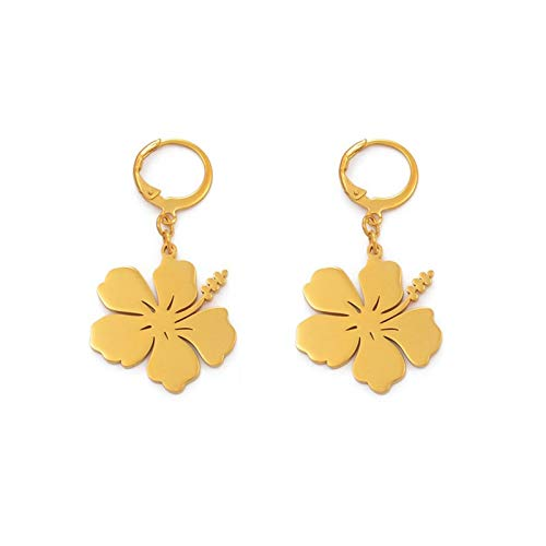 DDSH Mädchen Blumenohrringe Hibiskus Ohrringe Guam Hawaii Blumengeschenk Kilibati Earing Micronesia Chuuk # 201821