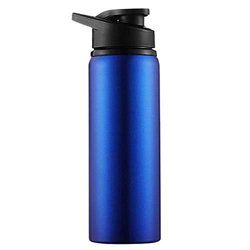 ZYLLL Edelstahl Reiseflasche Sports Water Cup Drink Fahrrad Outdoor Sports Pot Edelstahl Wasserflasche Blau 700ml