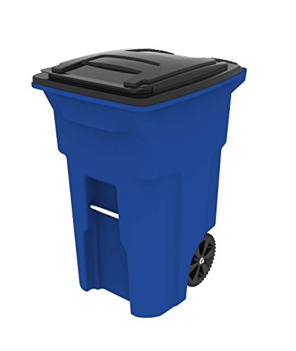 Toter Trash Can 64 Gallon Blue
