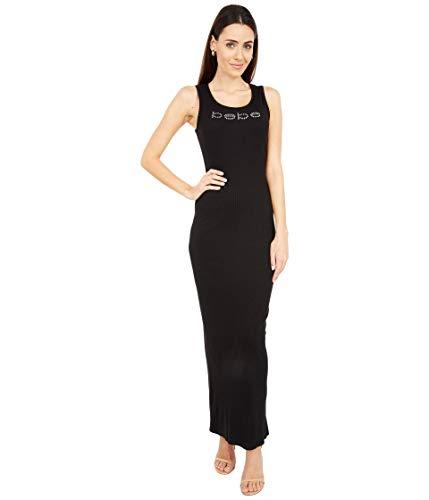 bebe Rib Knit Maxi Dress Black MD