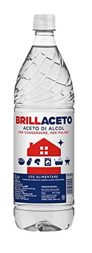 Ponti BRILLACETO Aceto di Alcol, Aceto di Alcol ideale per conservare e per pulire, Aceto di Alcol ad uso alimentare ma adatto anche alla pulizia, 1 bottiglia da 1l