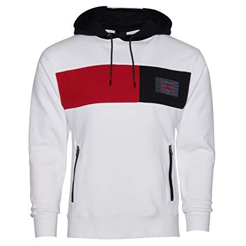 Jordan Retro 11 Hoodie Mens White/Black/Gym RED/Gym RED XXX-Large