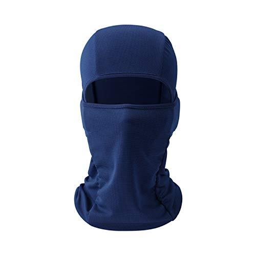AYPOW Balaclava mascarilla Facial, Suave Transpirable a Prueba de Viento Multiusos Motocicleta Ciclismo Cuello Calentador máscara de táctica, Sombrero para Motocicleta, tamaño elástico Univers