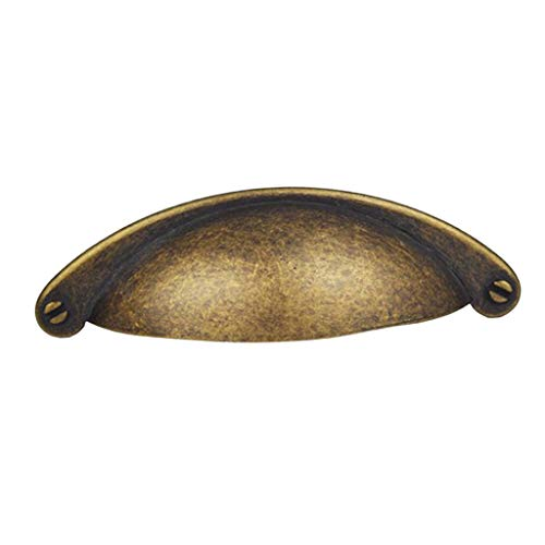 KESOTO Vintage Retro Muschelgriffe Schalengriffe Griffmuscheln Apothekergriff Griffschale - Bronze