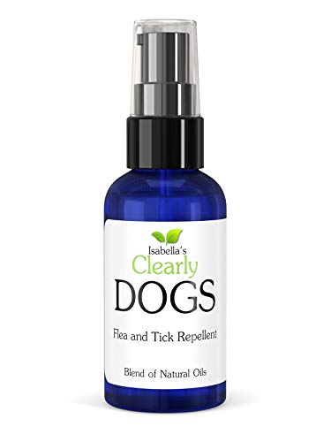 Clearly Dogs, Natural and Safe Tick and Flea Repellent, Non Toxic Highly Effective Proven Formula of Topical Oils Including Lavender, Lemongrass and Cedarwood. Made in USA (2 Oz)