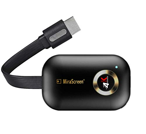 4K HDMI Adapter WiFi Display Dongle, MiraScreen 2.4G Miracast Dongle Streaming TV Stick für Android / iOS / Windows, Unterstützung für Google Home App und Chrome Mirroring