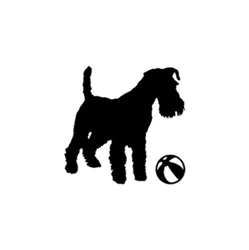 GenericBrands 5 Piezas Pegatina de Coche 15 CM * 14,5 CM calcomanía de Vinilo Lindo Perro Cachorro Pegatina de Coche Negro