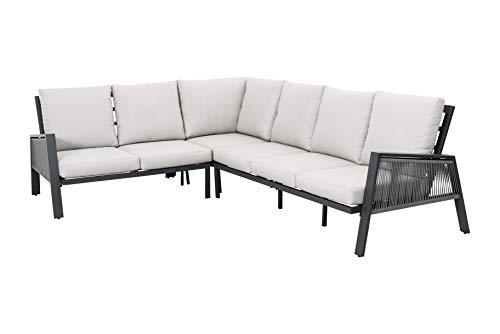 SYD Rinconera 6 plazas Aluminio de Primera Calidad y Cuerda sintética Mancor. 219x279x85cm (LargoXAnchoXAlto)