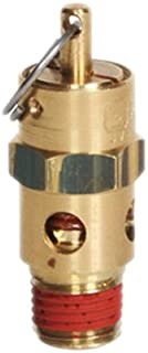 250 Degree F Max Temperature 1//8 NPT 1//8 1//8 NPT 100 psi Brass with Stainless Steel Spring Silicone Rubber Seat Midwest Control NP12-100 Non-Code Safety Valve