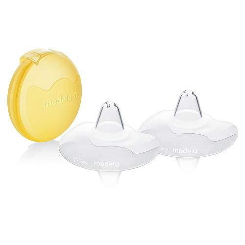 Medela Paracapezzoli Contact senza BPA, in silicone morbido ultrasottile, include 2 paracapezzoli e custodia, 16 mm, S