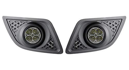 AUTOLIGHT 24 Luz LED diurna redonda de diseño + R87 Fiesta MK6 Facelift certificado E