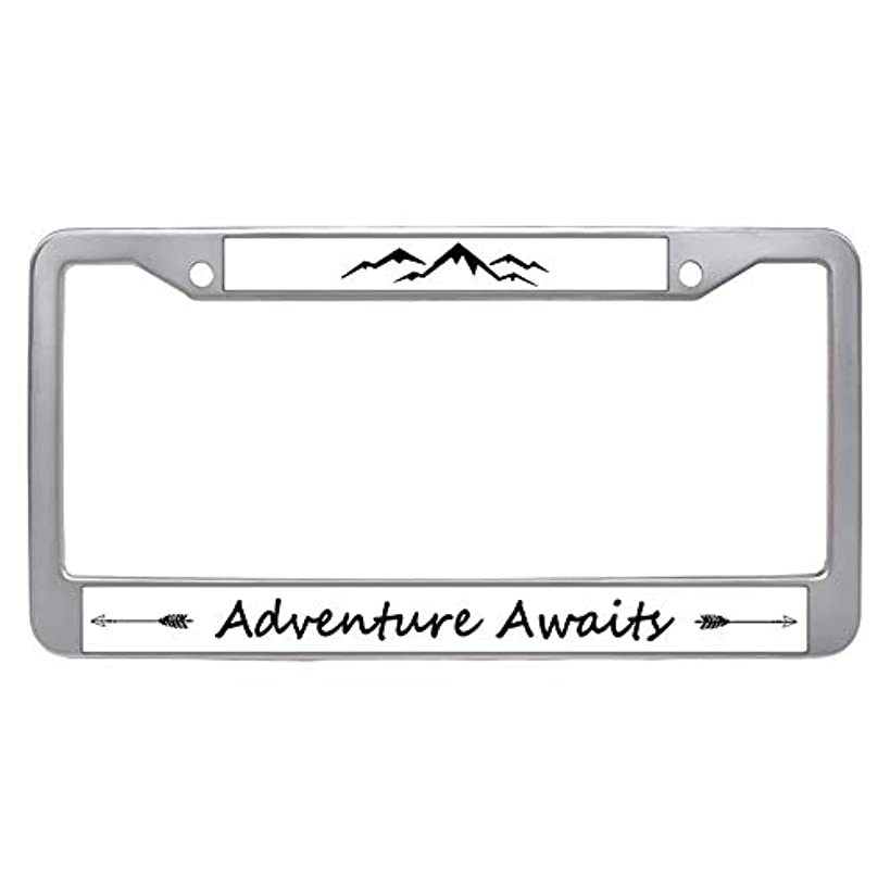 Makoncase Adventure Awaits License Plate Frame, Car Tag Frame