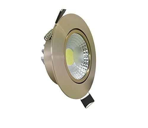 5w COB LED Spot Einbauleuchte Einbauspot Einbaustrahler Deckenleuchte Deckenlampe Rund Ø 83mm Bronze schwenkbar inkl. Trafo Neutralweiss